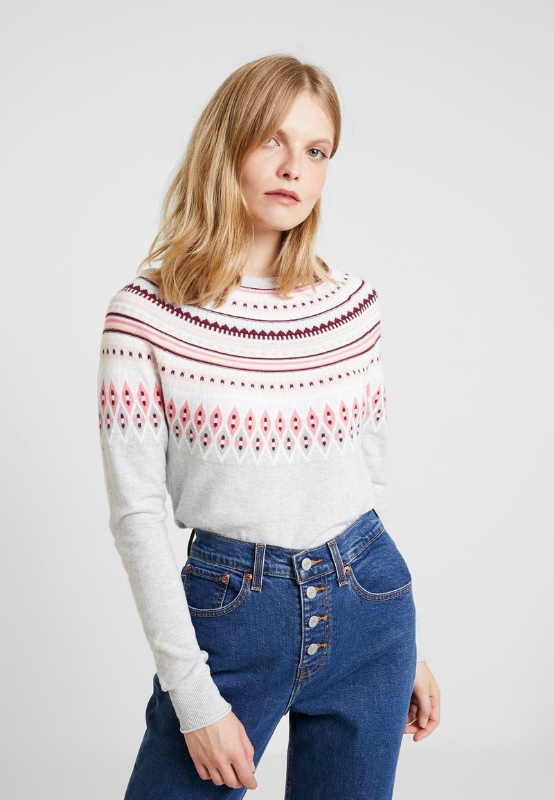 GAP - FAIRISLE CREW - Jumper - light grey heather
