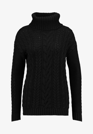 CABLE NECK - Jersey de punto - true black
