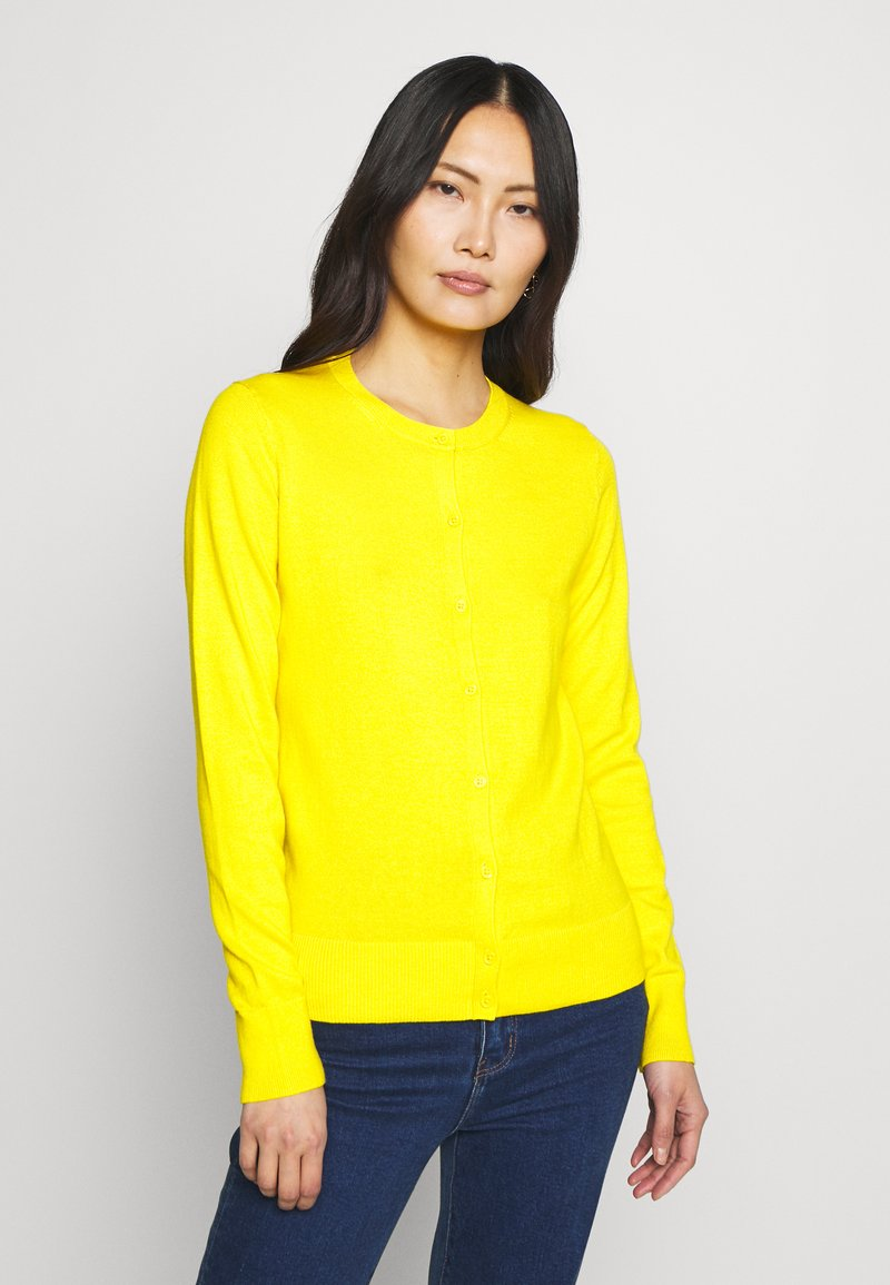 GAP - CREW CARDI - Cardigan - bold yellow