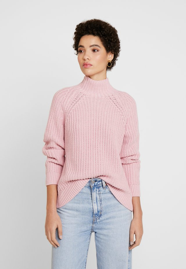 SHAKER TNECK - Jersey de punto - blush