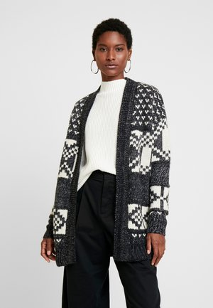 FAIRISLE OPEN - Cardigan - dark charcoal