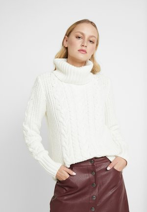 CABLE NECK  - Strikpullover /Striktrøjer - milk
