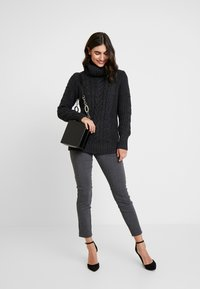 GAP - CABLE NECK  - Svetr - charcoal heather - 1