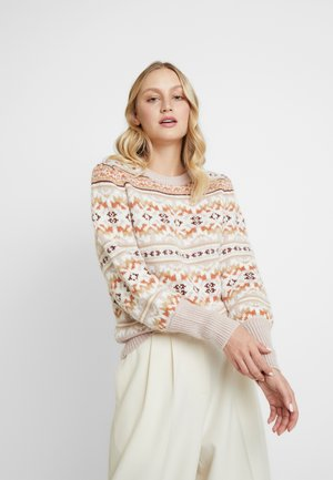 FAIRISLE CREW - Jumper - brown