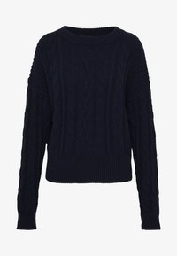 GAP - SLOUCHY CABLE CREW - Sweter - navy uniform - 4