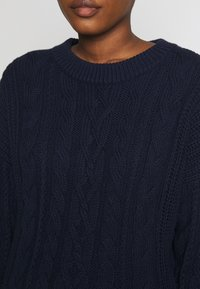 GAP - SLOUCHY CABLE CREW - Sweter - navy uniform - 5