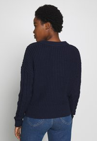 GAP - SLOUCHY CABLE CREW - Sweter - navy uniform - 2