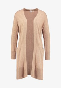 GAP - OPEN FRONT DUSTER - Cardigan - camel heather - 5