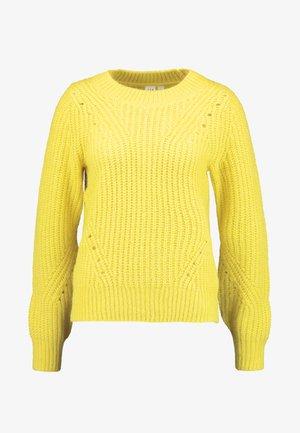 BRUSHED CREW - Svetr - neon yellow