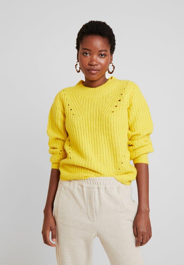 BRUSHED CREW - Jersey de punto - neon yellow