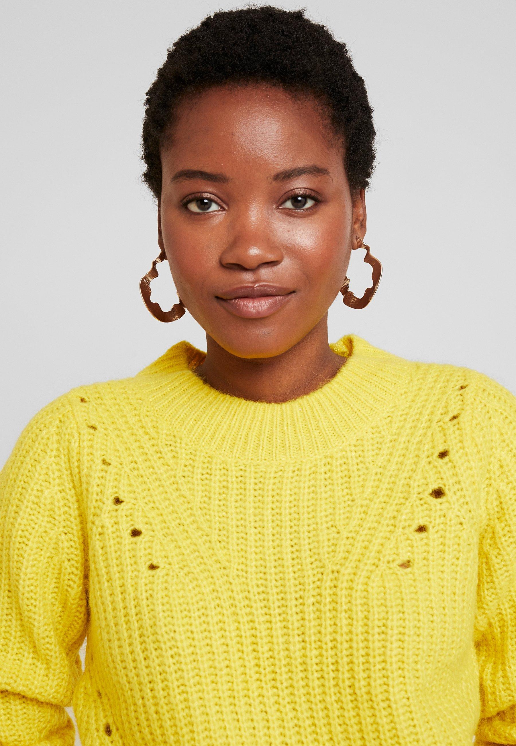GAP BRUSHED CREW - Sweter - neon yellow