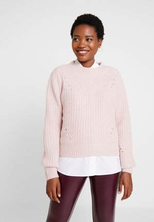 BRUSHED CREW - Sweter - soft pink