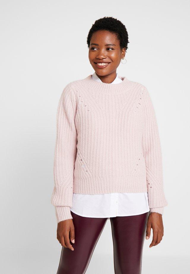 BRUSHED CREW - Strikpullover /Striktrøjer - soft pink