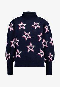 GAP - PUFF STAR NECK - Sweter - navy/multi - 3