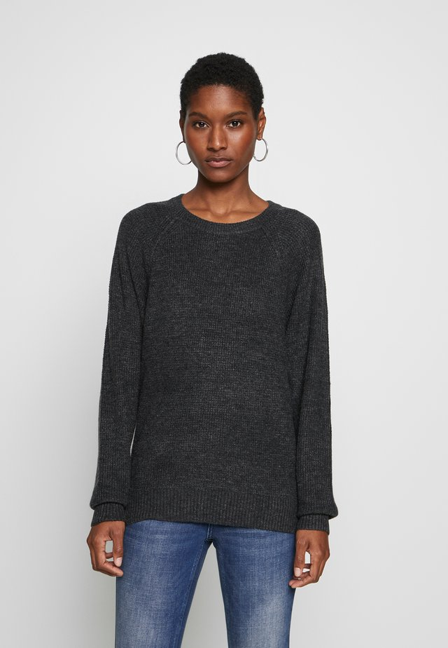 WAFFLE - Strickpullover - charcoal heather