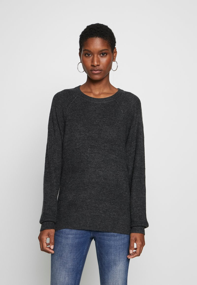 GAP - WAFFLE - Sweter - charcoal heather