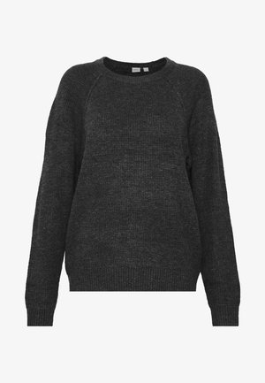WAFFLE - Pullover - charcoal heather