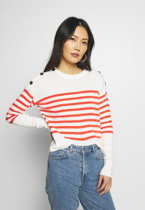 STRIPE CREW - Jumper - orange