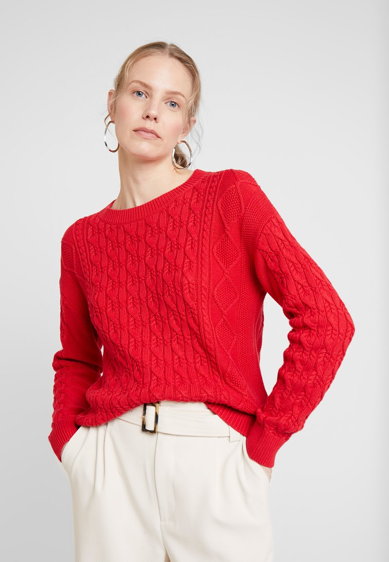 GAP - CABLE CREW - Sweter - modern red