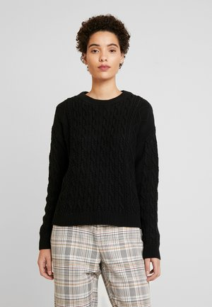 CABLE CREW - Sweter - true black