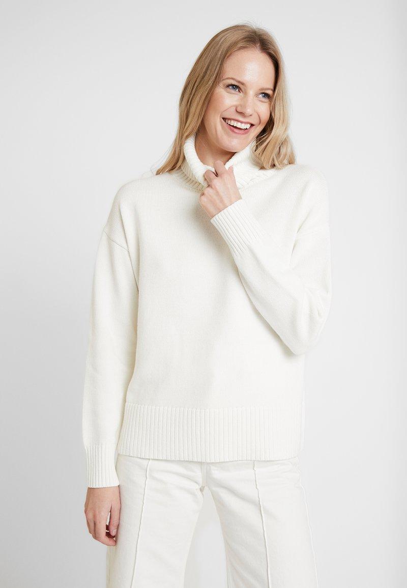 GAP - V-CROP OVERSIZE - Pullover - snowflake milk