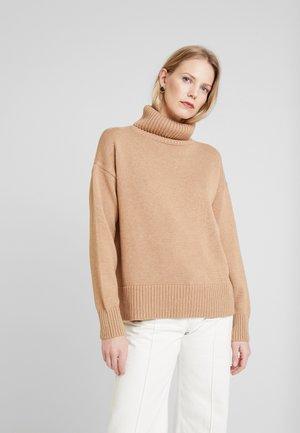V-CROP OVERSIZE - Sweter - classic camel