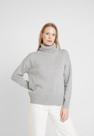 V-CROP OVERSIZE - Svetr - heather grey