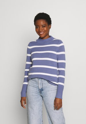 Sweter - blue/white