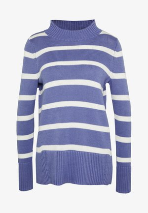 Strickpullover - blue/white