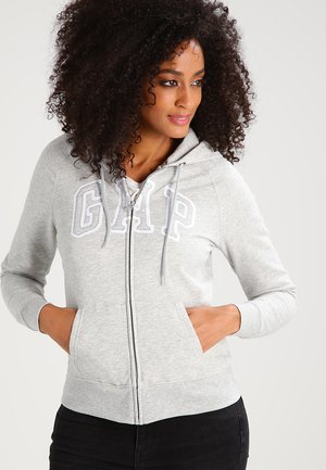 Hoodie met rits - light heather grey