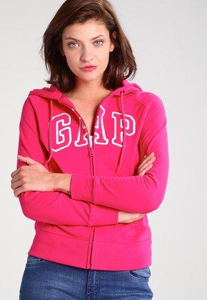 Zip-up hoodie - lipstick