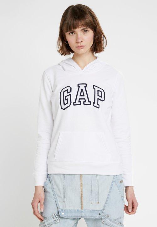 ZMNIEJSZONE O 50% GAP Bluza z kapturem - white Odzież Damska DQJI-JA3