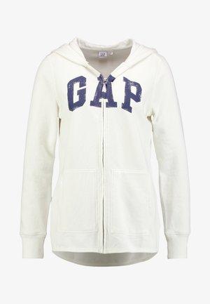 Zip-up hoodie - snow cap