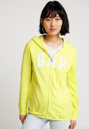 Zip-up hoodie - fresh yellow