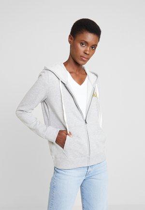 EMBROID - veste en sweat zippée - grey heather