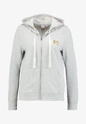 EMBROID - Mikina na zip - grey heather