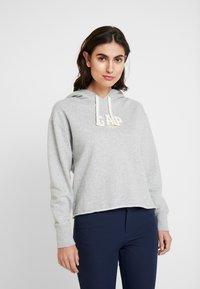 GAP - GAP MINI LOGO - Bluza z kapturem - light heather grey - 0