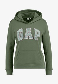 GAP - NOVELTY FILL - Bluza z kapturem - cool olive - 4