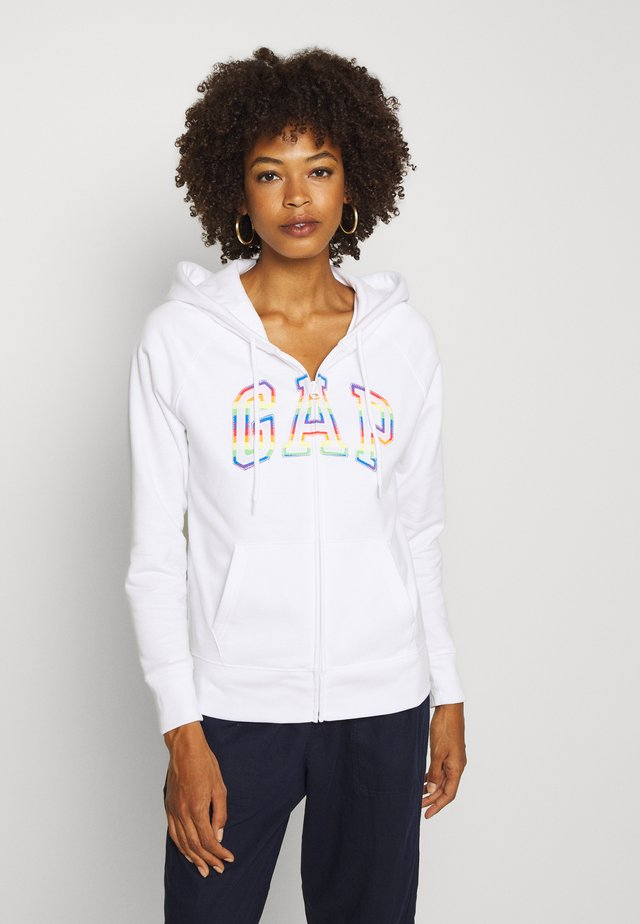 NOVELTY - Zip-up hoodie - white