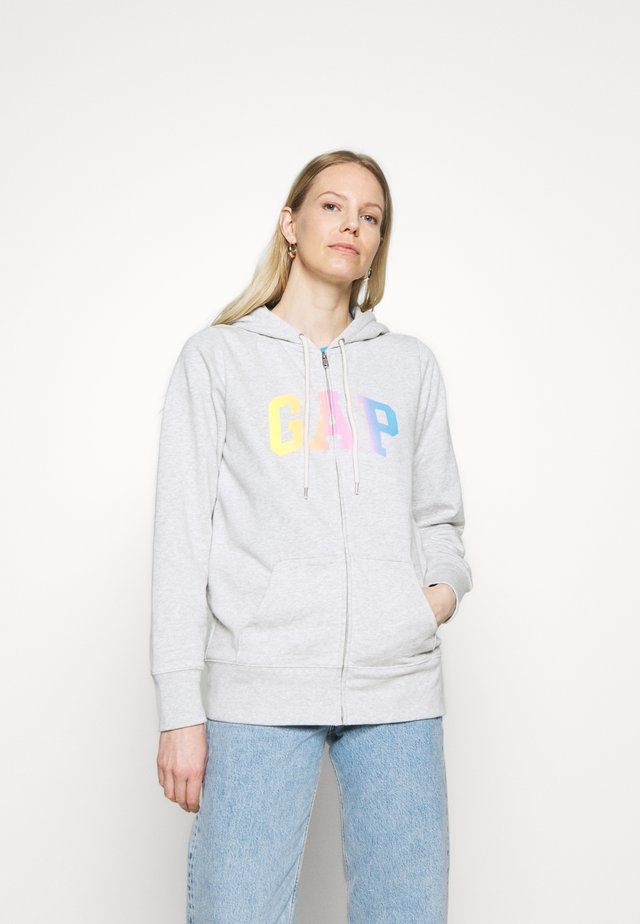 OMBRE - Zip-up hoodie - light heather grey