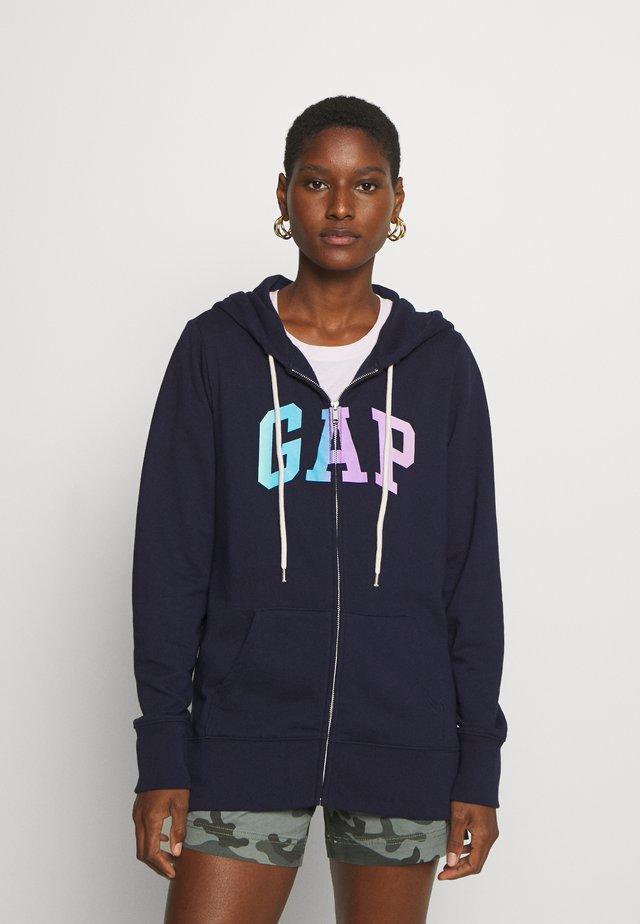 OMBRE - Zip-up hoodie - navy uniform