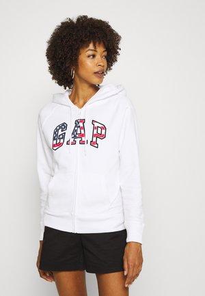 FLAG - Zip-up hoodie - white