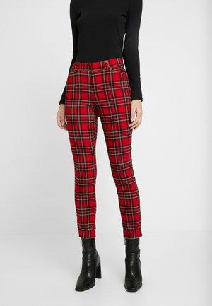 ANKLE BISTRETCH - Spodnie materiałowe - red