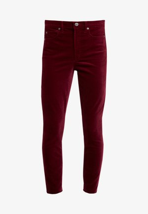 SKINNY ANKLE - Pantaloni - bell burgundy