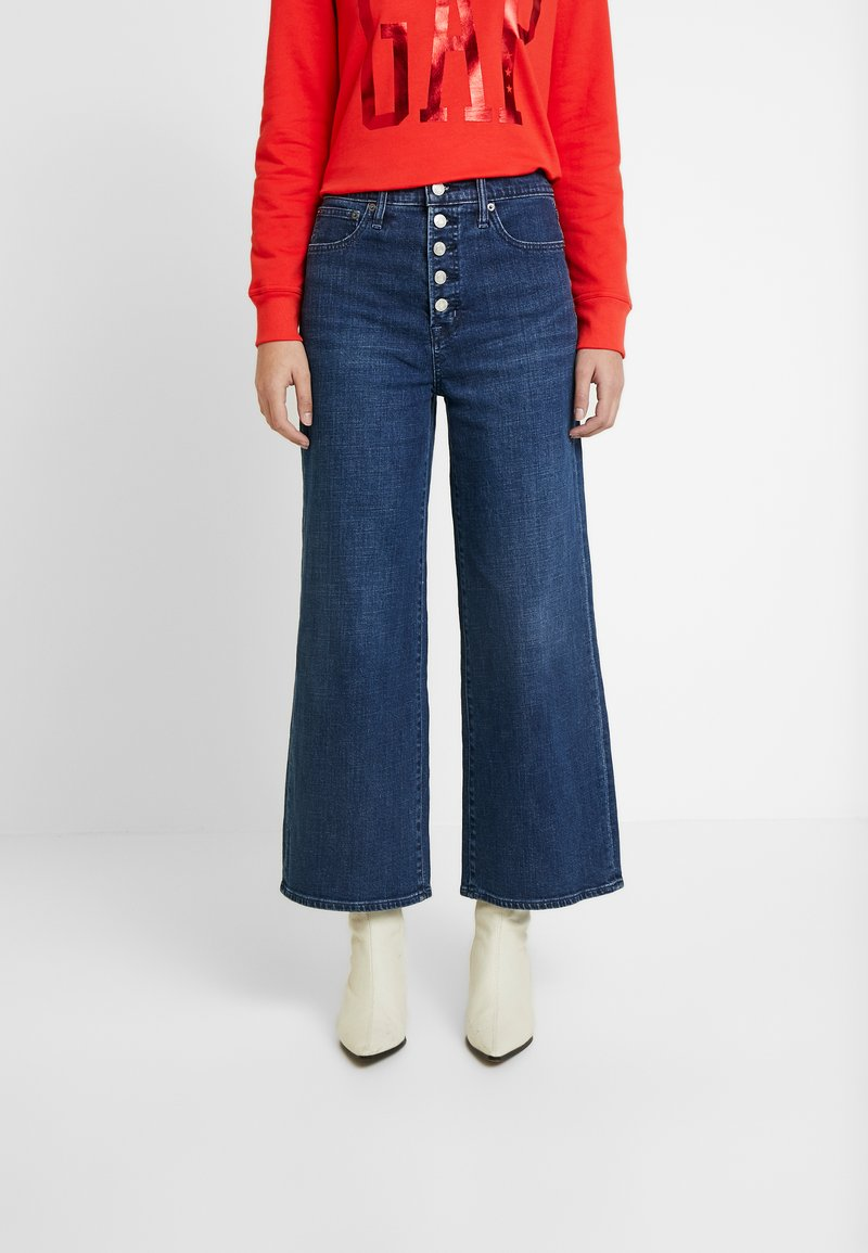 GAP - MONTANA - Široké džíny - dark indigo