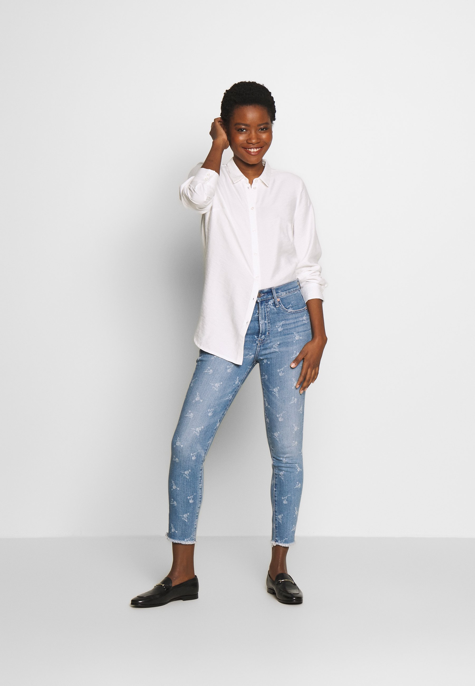 GAP ANKLE HOPE FLORAL  - Jeansy Skinny Fit - light indigo