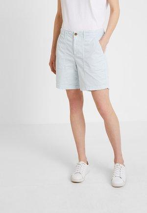 INCH UTILITY HERRINGBONE - Shorts - aqua blue