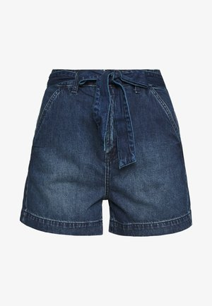 IN TIE WAIST - Shorts di jeans - dark wash
