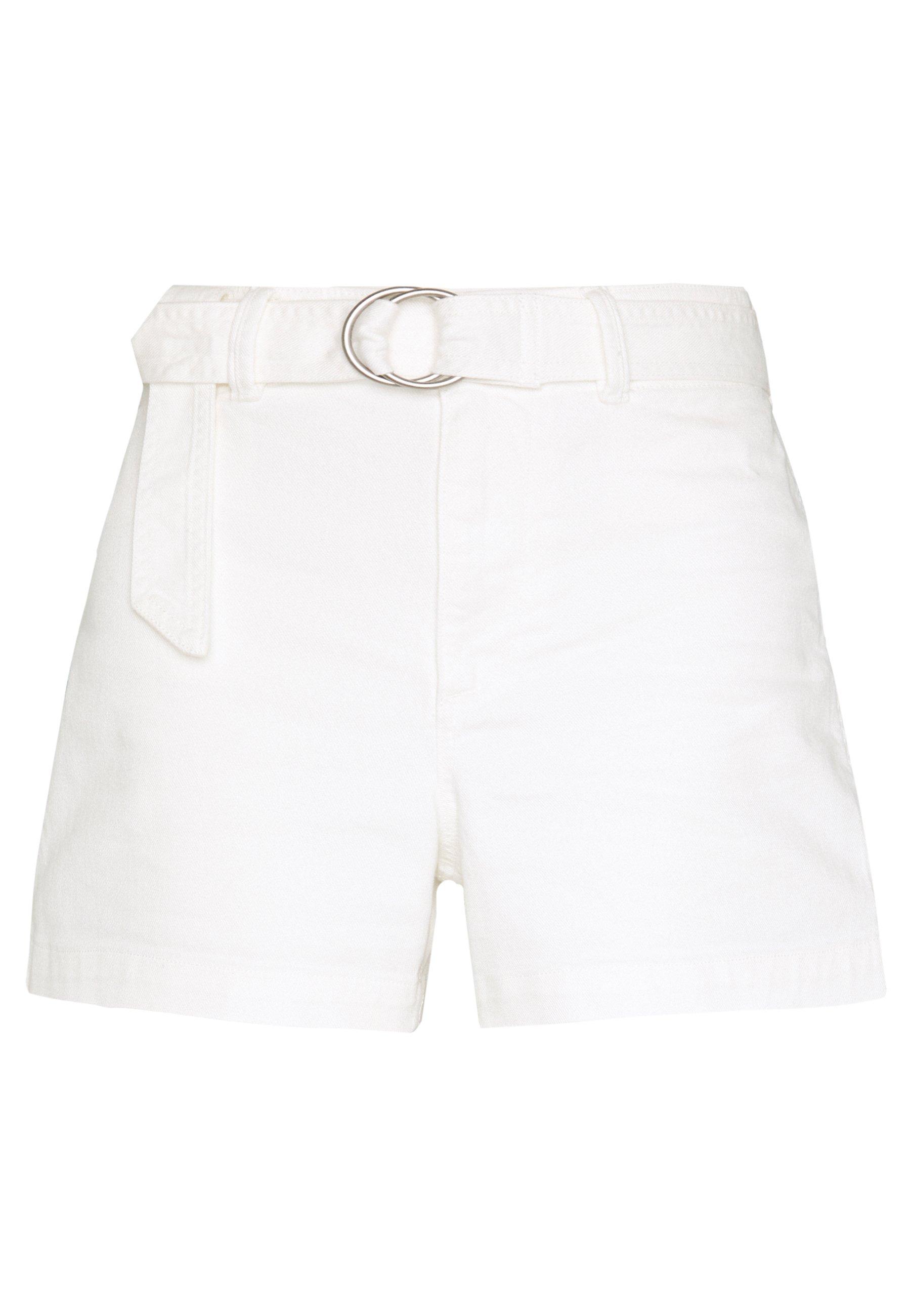 GAP HIGH RISE SEAFARER - Szorty jeansowe - snowflake milk
