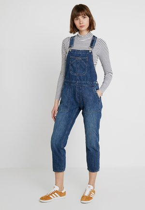 CROP OVERALL - Dungarees - medium indigo